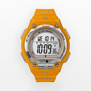 Timex Ironman Orange Resin Digital Chronograph Watch - T5K585 - Men