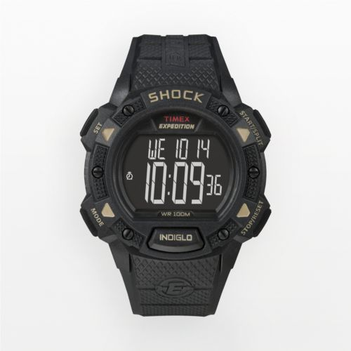 Timex Expedition Black Resin Digital Chronograph Watch - T49896 - Men