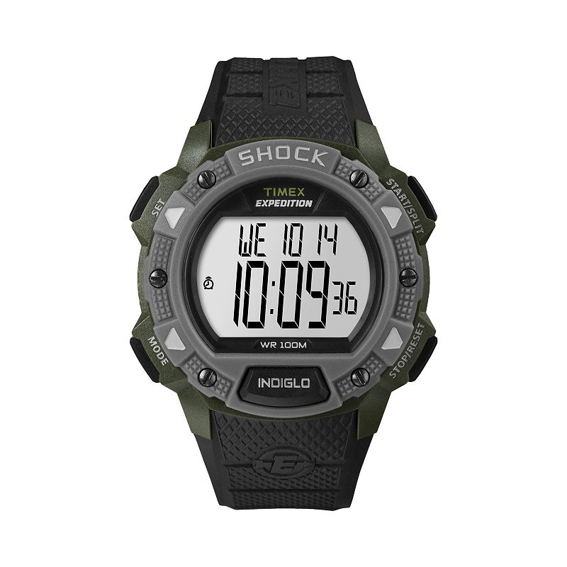 Timex Expedition Green Resin Digital Chronograph Watch - T49897 - Men