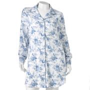 Chaps An English Winter Floral Sleep Shirt - Women's Plus