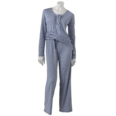 Chaps An English Winter Pleated Pajama Set - Women's Plus