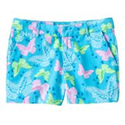 SO Butterfly Chino Shorts - Girls Plus