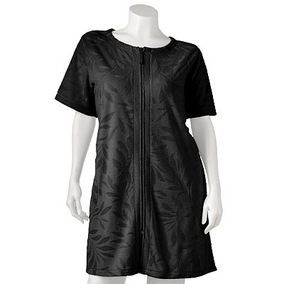 Croft and Barrow Embossed Leaf Terry Duster Robe  - Women's Plus