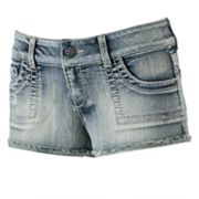 Mudd Pork Chop Shortie Shorts - Juniors