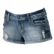 Mudd Distressed Shortie Shorts - Juniors