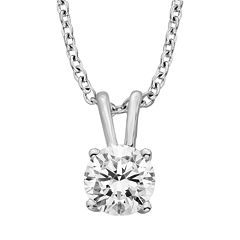 Diamonore Sterling Silver 1 1/2-ct. T.W. Simulated Diamond Solitaire Pendant