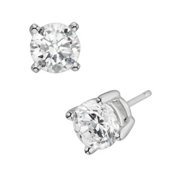 Diamonore Sterling Silver 1.5-ct. T.W. Simulated Diamond Stud Earrings