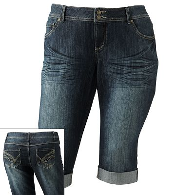 SO Cuffed Denim Capris - Juniors' Plus