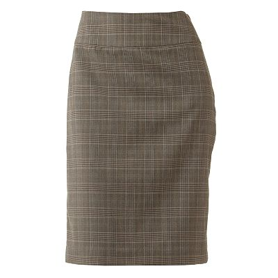 212 Collection Plaid Pencil Skirt