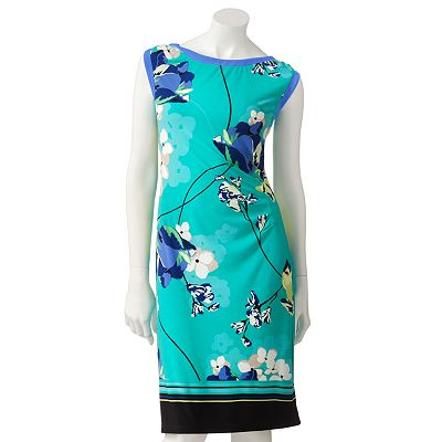 Apt. 9 Floral Pleated Sheath Dress - Petite