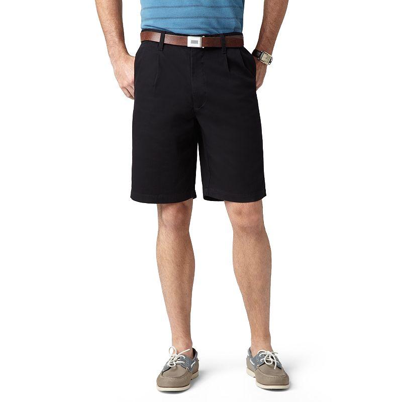 Dockers Double-Pleated Shorts - Men (Black)