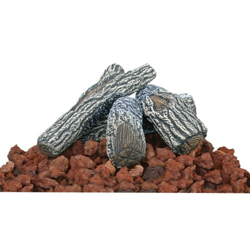 UniFlame Fire Pit Lava Rock/Log Kit - Outdoor