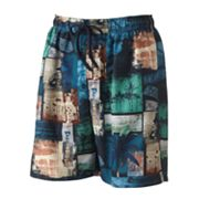 Newport Blue Beach Signs Swim Trunks