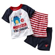 Jumping Beans Monster Fire Cracker Pajama Set - Toddler