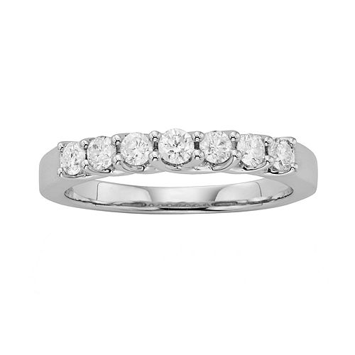 14k White Gold 1/2-ct. T.W. IGL Certified Round-Cut Diamond Wedding Ring