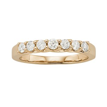 14k Gold 1/2-ct. T.W. IGL Certified Round-Cut Diamond Wedding Ring