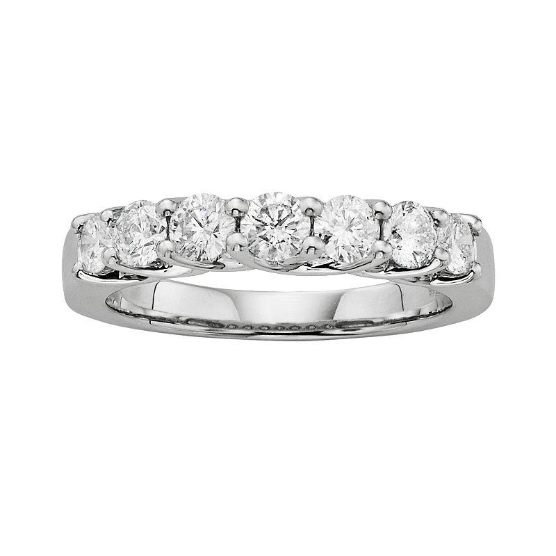 14k White Gold 1-ct. T.W. IGL Certified Round-Cut Diamond Wedding Ring, Women's, Size: 6