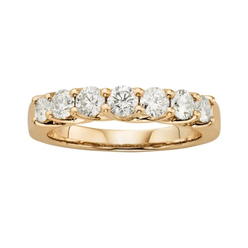 14k Gold 1-ct. T.W. IGL Certified Round-Cut Diamond Wedding Ring