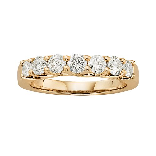 14k Gold 1-ct. T.W. IGL Certified Round-Cut Diamond Wedding Ring
