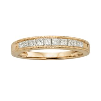 14k Gold 1/2-ct. T.W. IGL Certified Princess-Cut Diamond Wedding Ring