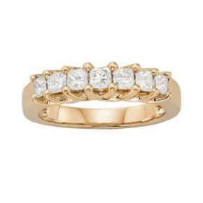 14k Gold 1-ct. T.W. IGL Certified Princess-Cut Diamond Wedding Ring