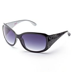 Candie's Etched Rectangular Sunglasses