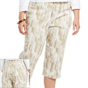 Gloria Vanderbilt Amanda Chevron Denim Capris - Women's Plus