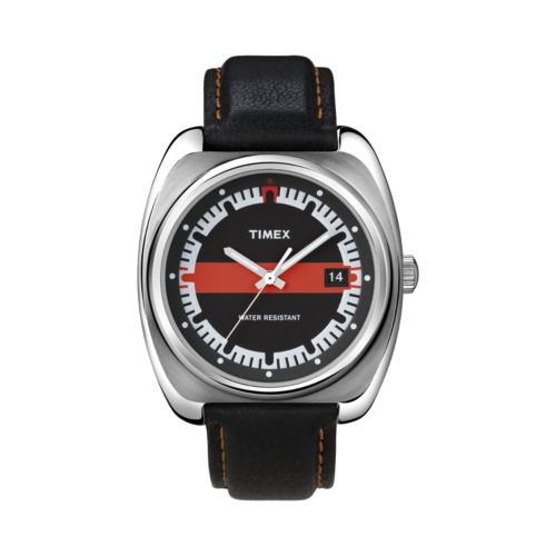 Timex Stainless Steel Leather Watch - T2N5859J - Men