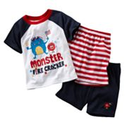 Jumping Beans Monster Fire Cracker Pajama Set - Baby