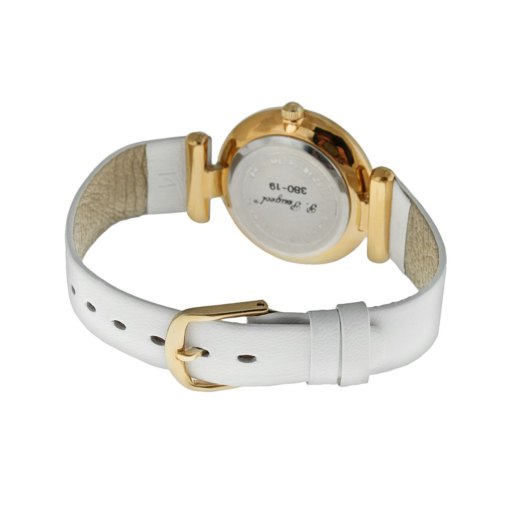 Peugeot Gold Tone Leather Watch - 380-19 - Women