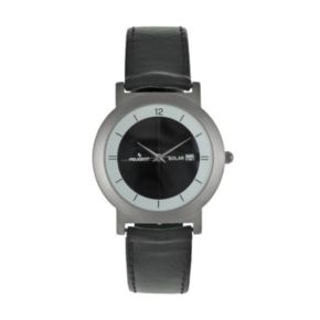 Peugeot Men's Solar Leather Watch - 590