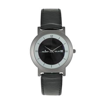 Peugeot Men's Solar Leather Watch - 590