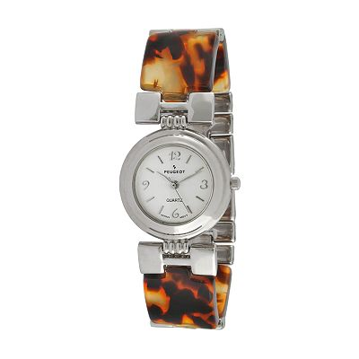 Peugeot Silver Tone Tortoise Watch - 705-7  - Women