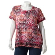 Sag Harbor Lace Embellished Top - Women's Plus