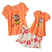 Jumping Beans Hula Monkey Pajama Set - Toddler