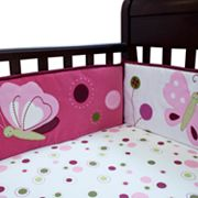 Lambs and Ivy Raspberry Swirl Bumper