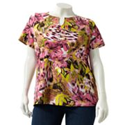 Sag Harbor Floral Embellished Top - Women's Plus