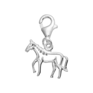 Personal Charm Sterling Silver Openwork Horse Charm