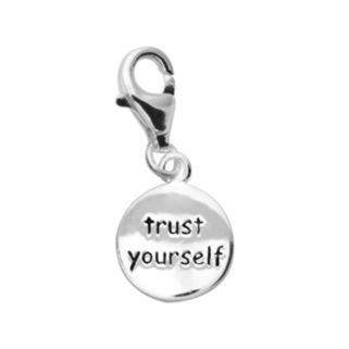 Personal Charm Sterling Silver Trust Yourself Disc Charm