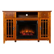 Fletcher Media Console and Electric Fireplace