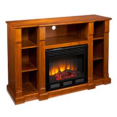 Chaucer Media Console & Electric Fireplace by