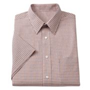 Croft and Barrow Checked Point-Collar Dress Shirt