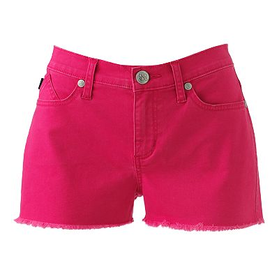 Rock and Republic Lolita Frayed Color Denim Shorts