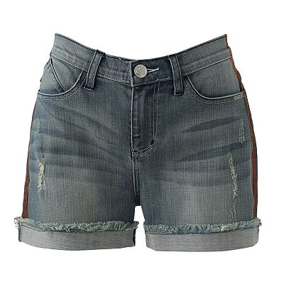 Rock and Republic Fujirock Tuxedo Frayed Denim Shorts