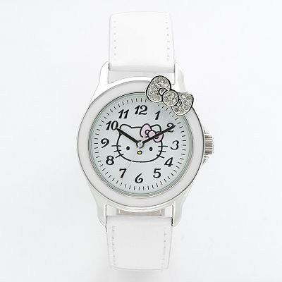Hello Kitty Silver Tone Simulated Crystal Watch - Women
