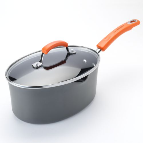 Rachael Ray 3-qt. Nonstick Covered Oval Saucepan