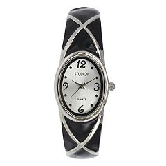 Studio Time Women's Crisscross Bangle Watch