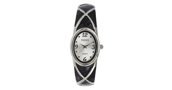 Studio Time Women S Crisscross Bangle Watch