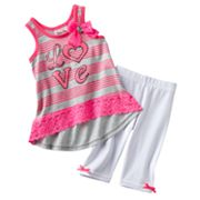Little Lass Love Top and Skimmer Leggings Set - Baby