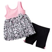 Little Lass Chiffon Bubble Top and Bike Shorts Set - Baby